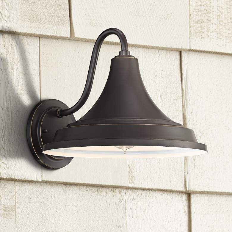 "Quoizel Oceanfront 12""H Palladian Bronze Outdoor Wall Light"