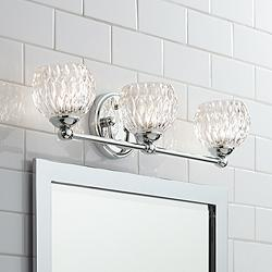 "Possini Euro Antonia 22"" Wide Chrome 3-Light LED Bath Light"