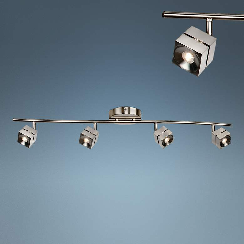 Cantrell 4-Light Satin Nickel JA8 LED Track Fixture