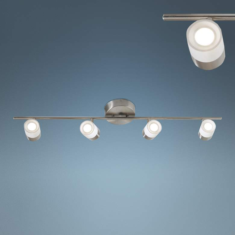 Gramercy 4-Light Satin Nickel/White JA8 LED Track Fixture