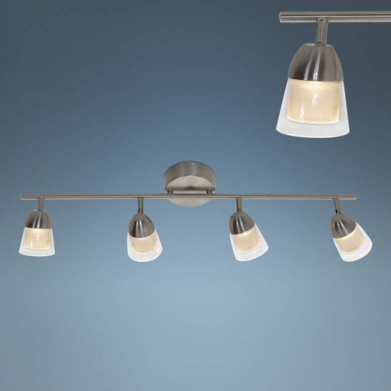 District 4-Light Satin Nickel JA8 LED Track Fixture