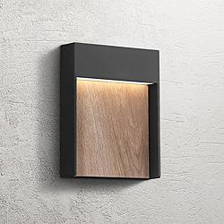 "Quoizel Tempest 9 1/4""H Earth Black LED Outdoor Wall Light"