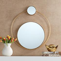 "Cherie 26"" x 28 1/4"" Gold Double Stack Wall Mirror"