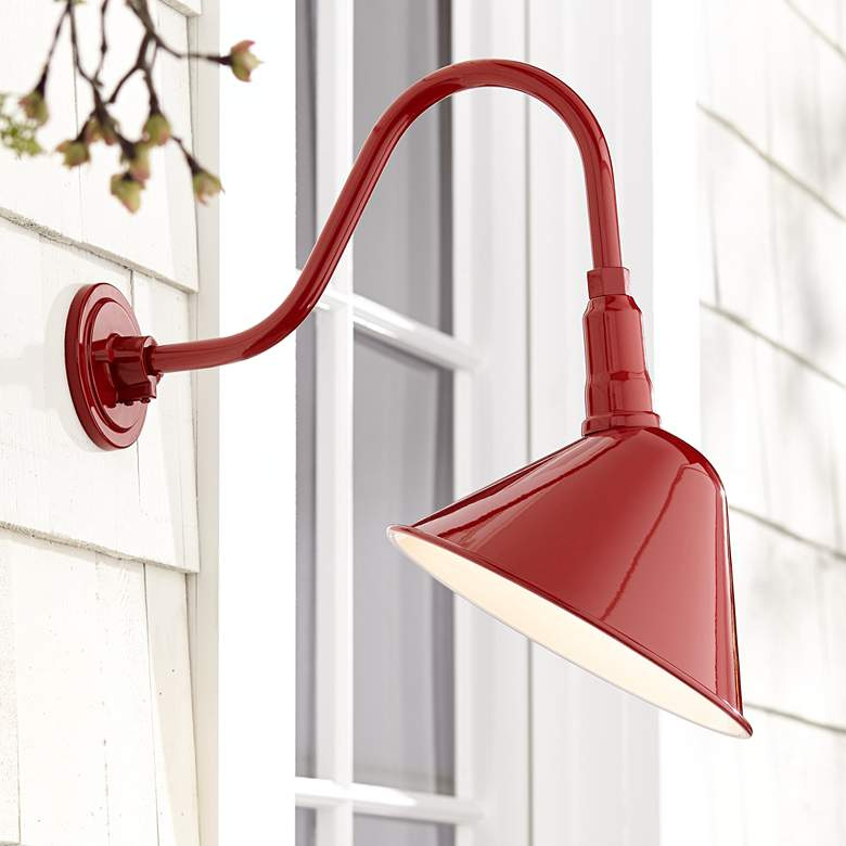 "Neihart 18"" High Rustic Red RLM Outdoor Wall Light"
