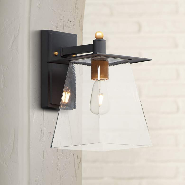 "Maxim Chalet 13"" High Bronze and Gold LED"