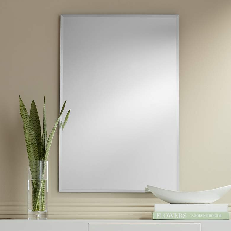 "Brix 24"" x 36"" Frameless Rectangle Vanity Wall"