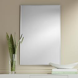 "Brix 24"" x 36"" Frameless Rectangle Vanity Wall Mirror"