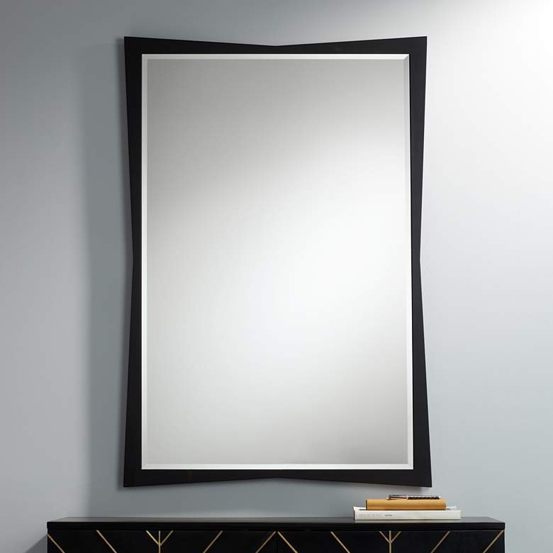 "Liliana Black 30 3/4"" x 45"" Geometric Wall"