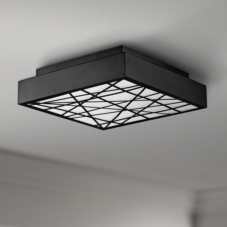 "ET2 Intersect 15 3/4"" Wide Square Black LED"