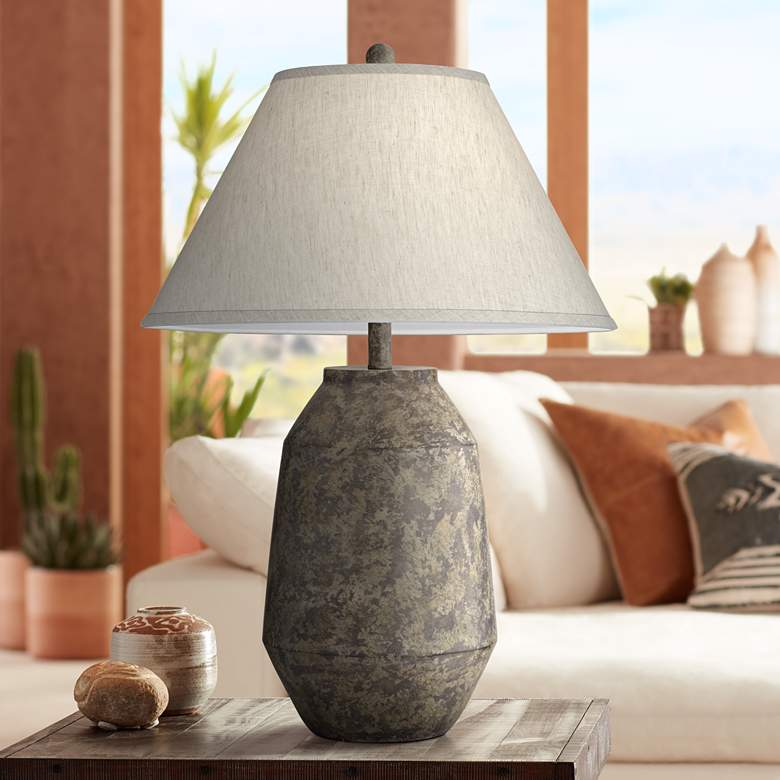 Lagos Dark Terracotta Jar Table Lamp