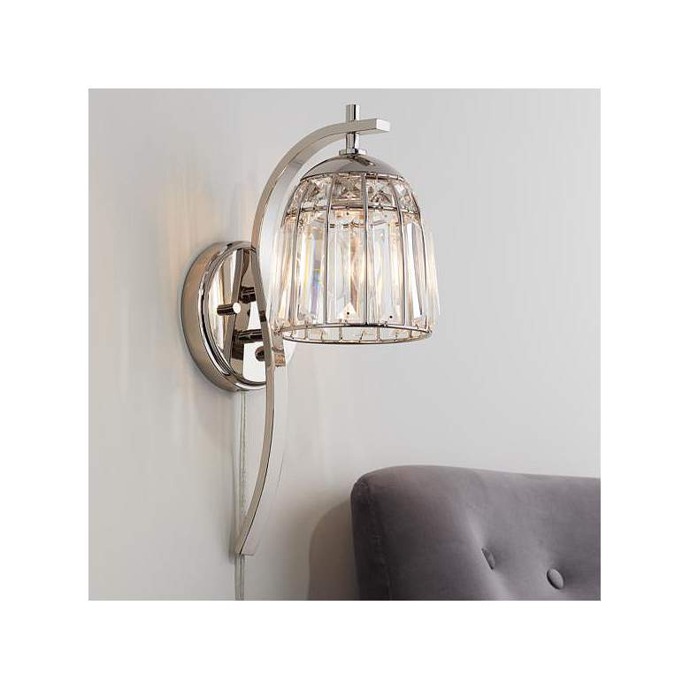 Derren Polished Nickel and Crystal Pin Up Wall