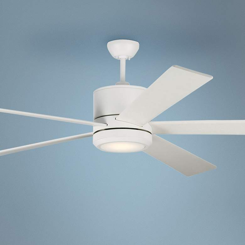 "72"" Monte Carlo Vision 72 Matte White LED Ceiling Fan"