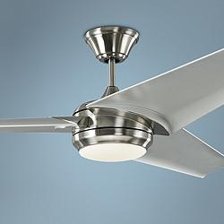 "60"" Orville Brushed Steel - Silver LED Damp Ceiling Fan"