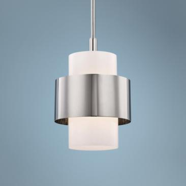 "Hudson Valley Corinth 11"" Wide Polished Nickel Pendant Light"