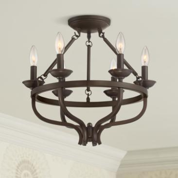 "Adari 17 3/4"" Wide Oil-Rubbed Bronze Ceiling Light"