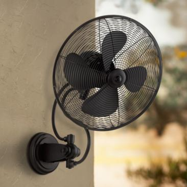 "14"" Quorum Piazza Noir Patio Wall Fan"