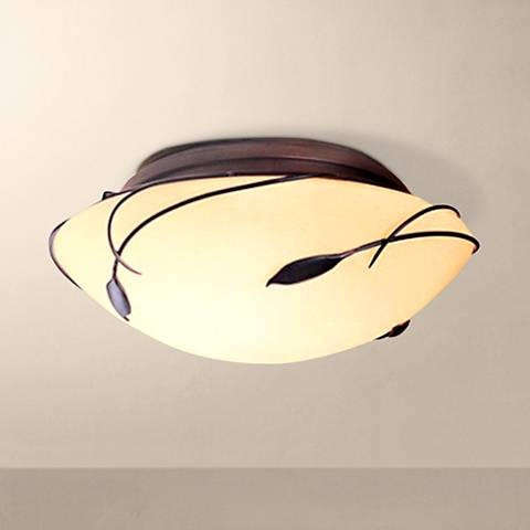 "Hubbardton Forge 13 3/4"" Wide Twining Leaf Iron Light"