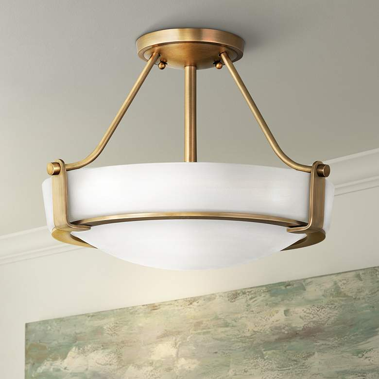 "Hinkley Hathaway 16"" Wide Heritage Brass LED Ceiling"