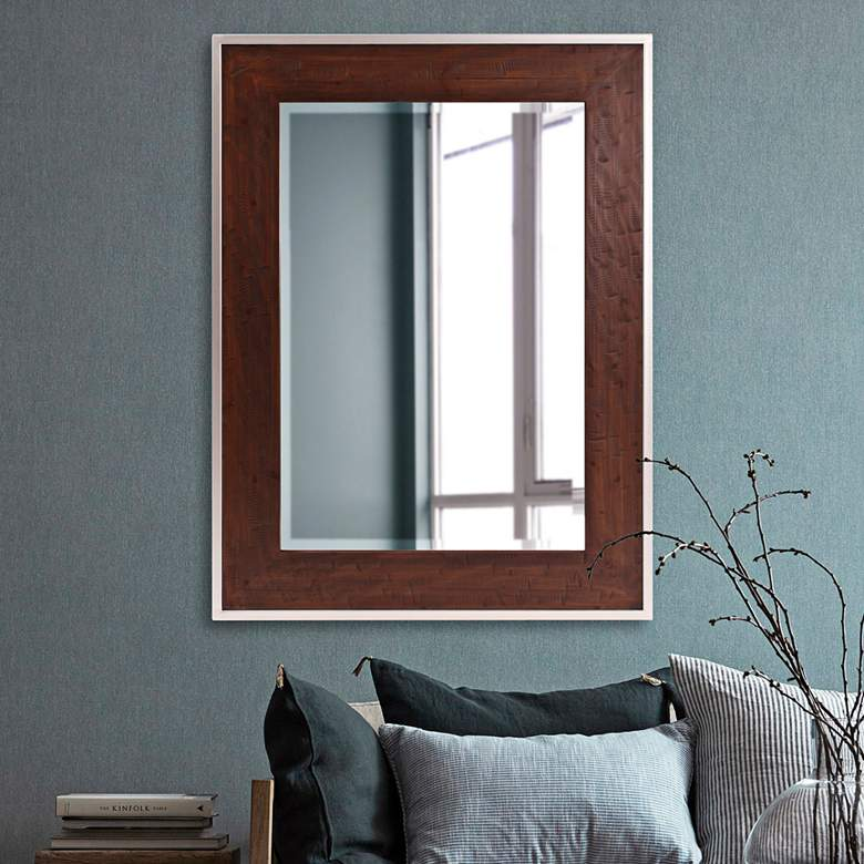 Holden Rich Walnut Brown Stain 36 X 48 Wall Mirror