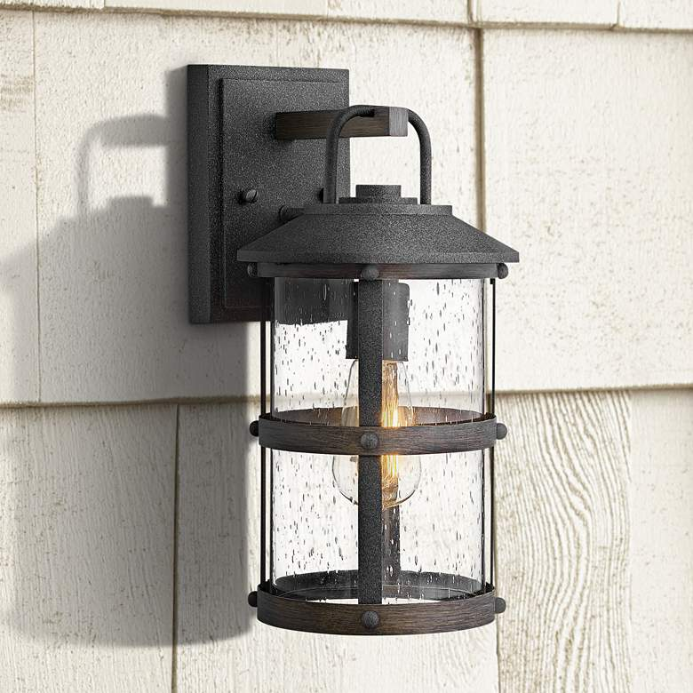"Hinkley Lakehouse 14 1/2"" High Aged Zinc Outdoor"