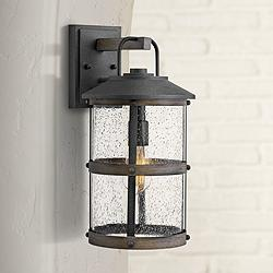 "Hinkley Lakehouse 17 1/4"" High Aged Zinc Outdoor Wall Light"