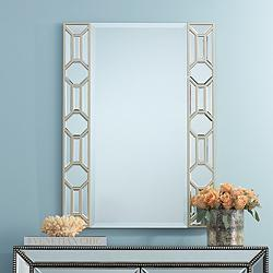"Gridley 25 3/4"" x 34 3/4"" Lined Rectangular Wall Mirror"