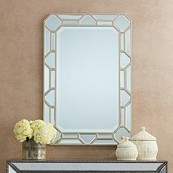 "Betty 23 3/4"" x 35 1/2"" Deco Rectangular Wall Mirror"