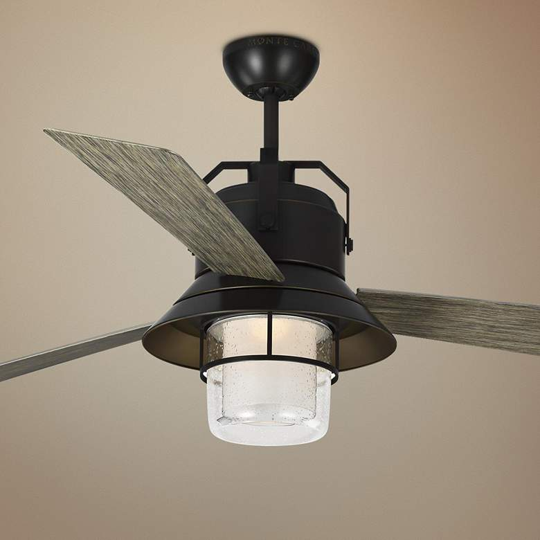"54"" Boynton Antique Bronze LED Outdoor Ceiling Fan"