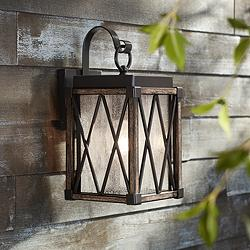 "Possini Euro Brawley 13 1/2""H Lantern Outdoor Wall Light"