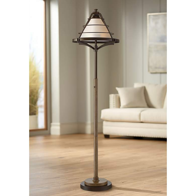 Franklin Iron Works Cheyenne Farmhouse Floor Lamp