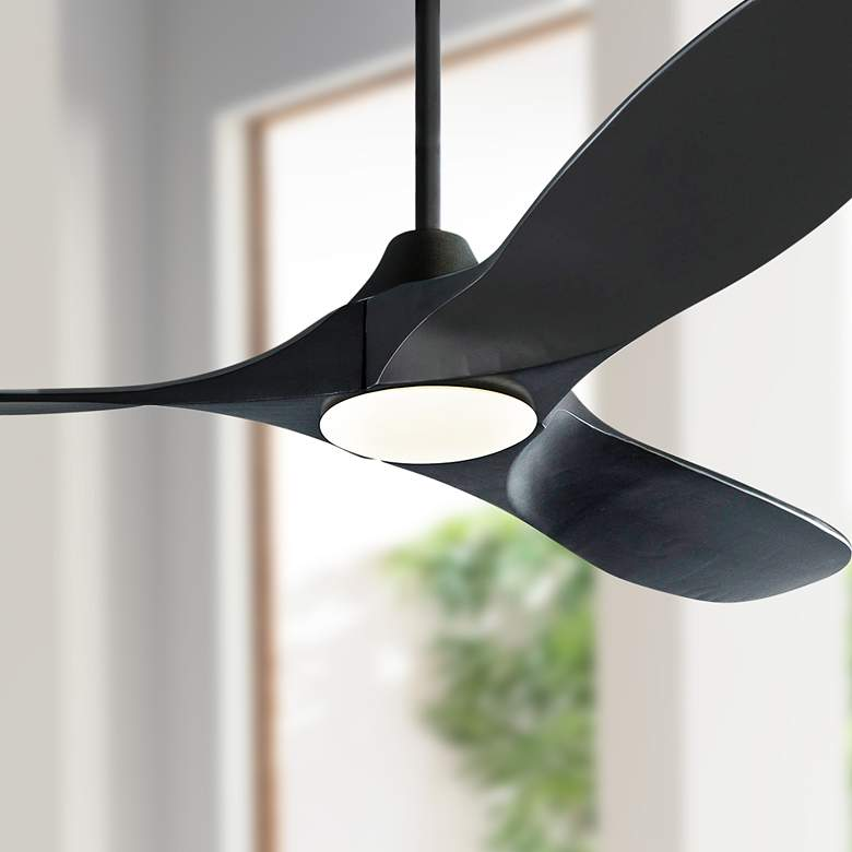 "52"" Monte Carlo Maverick II Matte Black LED Ceiling Fan"