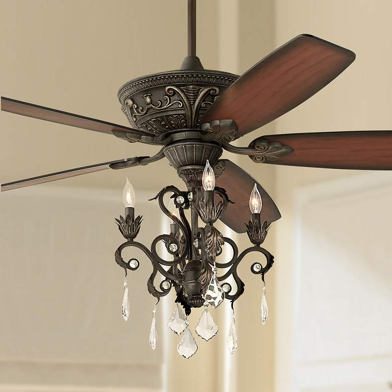 "60"" Casa Montego™ Bronze Chandelier LED Ceiling Fan"