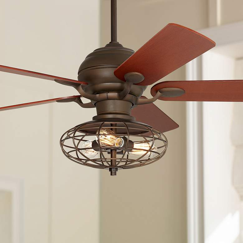 "52"" Casa Optima Oil-Rubbed Bronze LED Ceiling Fan"