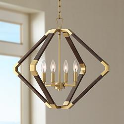 "Possini Euro Marist 23 3/4"" Wide Gold 4-Light Foyer Pendant"