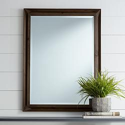 "Kien 30"" x 40"" Rectangular Wood Wall Mirror"