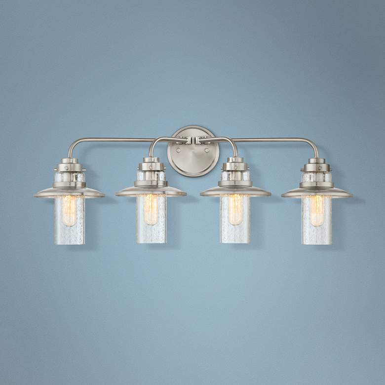 "Dover 29 3/4"" Wide Satin Platinum 4-Light Bath"
