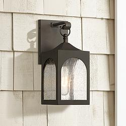 "Possini Euro Tyne 12""H Bronze Lantern Outdoor Wall Light"