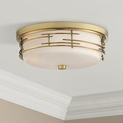 "Arden 14"" Wide Soft Gold Ceiling Light"