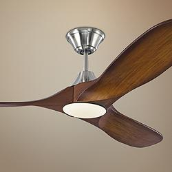 "52"" Monte Carlo Maverick II Brushed Steel LED Ceiling Fan"