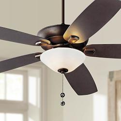 "60"" Colony Super Max Plus Roman Bronze LED Damp Ceiling Fan"