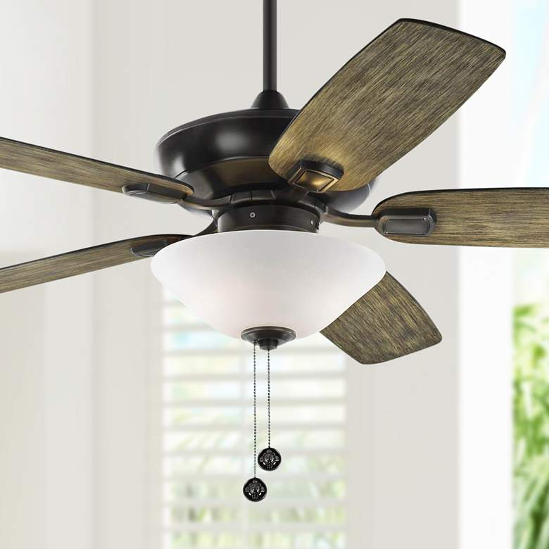 "52"" Colony Max Plus Aged Pewter LED Damp Rated Ceiling Fan"