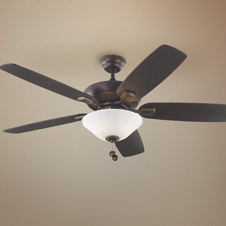 "52"" Colony Max Plus Roman Bronze LED Damp Rated Ceiling Fan"