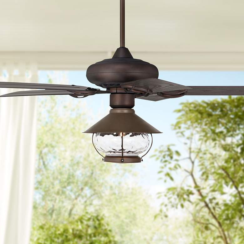 "52"" Casa Vieja Orb Bronze LED Outdoor Ceiling"