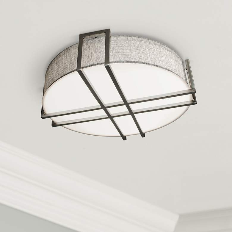 "Lambert 20 1/4"" Wide Satin Nickel LED Ceiling"