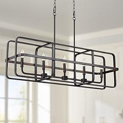 "Chapman 39 1/2"" Wide Bronze Kitchen Island Light Chandelier"