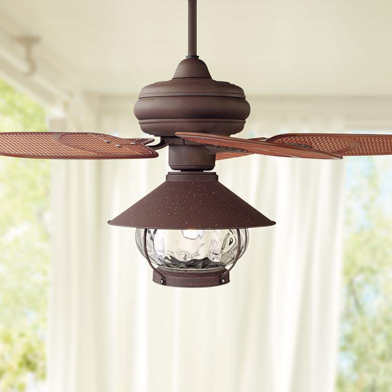 "42"" Casa Vieja Tropical Lantern Outdoor LED Ceiling"