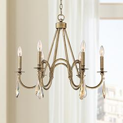 "Aubree 24 1/2"" Wide Burnished Gold 6-Light Chandelier"
