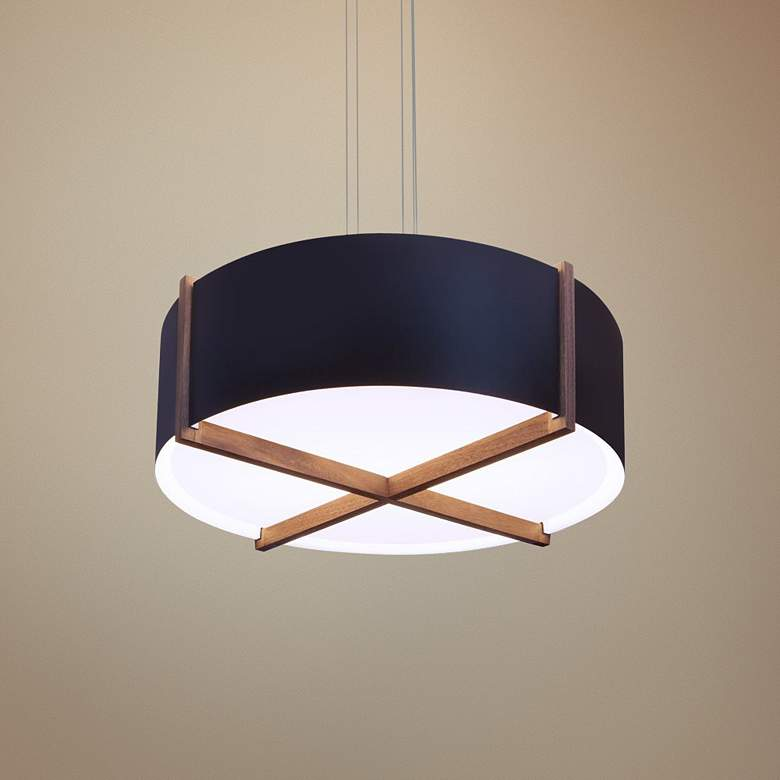 "Cerno Plura 18"" Wide Matte Black LED Pendant"