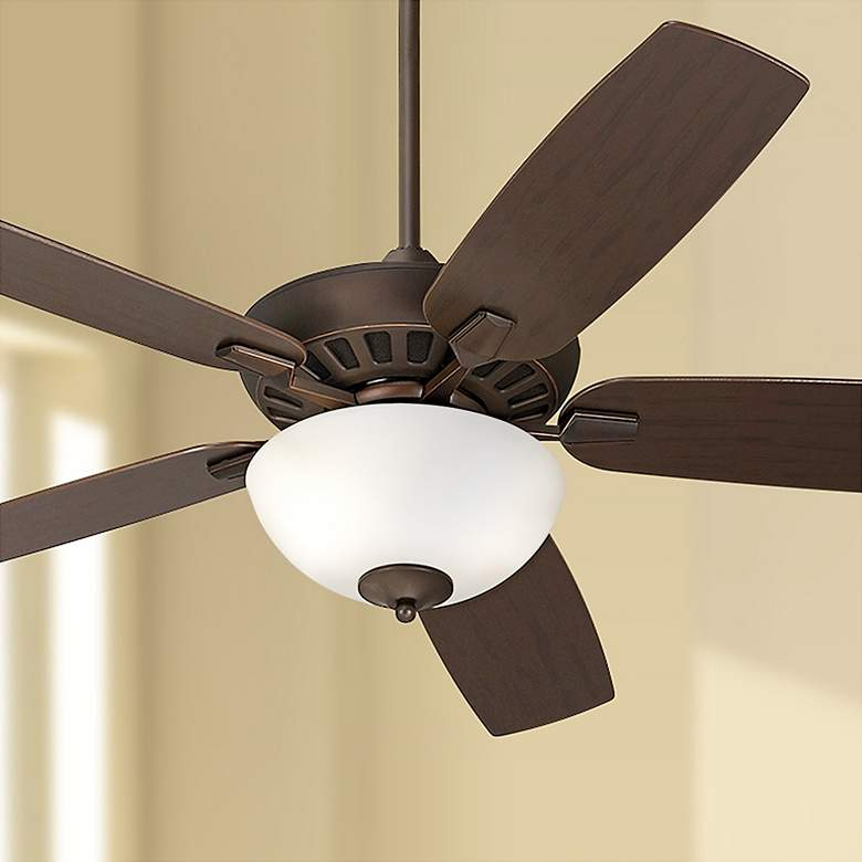 "52"" Journey Bronze and Alabaster LED Ceiling Fan"