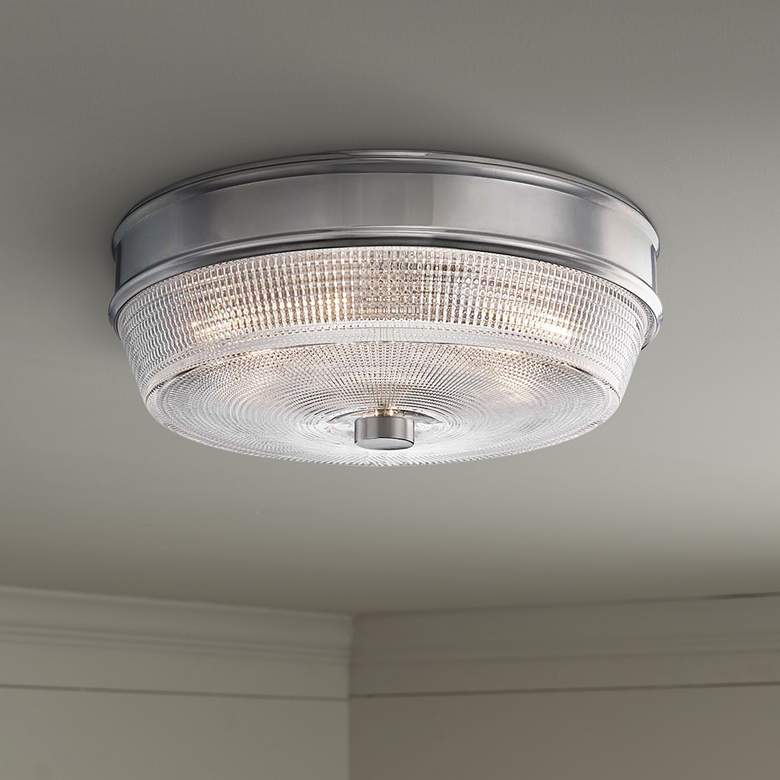 "Mitzi Lacey 10 1/4"" Wide Polished Nickel Ceiling Light"